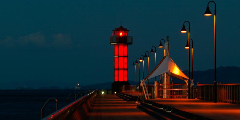 サンポート赤灯台|香川